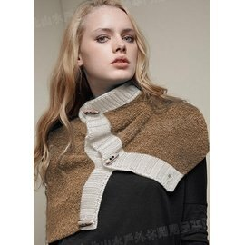 [ Buff ] 開襟羊駝圓桶圍巾/保暖頸圍/披肩 342090 駝色 Lonely 城市時尚系列