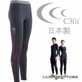 C3fit/機能褲/壓縮褲/緊身褲 Performance 日本製 慢跑褲/內搭褲 女款 3FW9120Y-NP 灰/桃紅