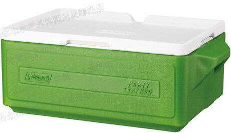 六折特價 Coleman 置物型冰桶/行動冰箱/可堆疊好攜帶 CM-1327J 綠 23.5L