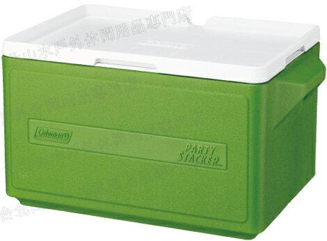 [ Coleman ] 置物型冰桶/行動冰箱/可堆疊好攜帶 CM-1331 綠 31L
