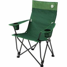 Coleman 高背舒壓椅 休閒摺椅/露營摺疊椅 CM-0503J 綠色/台北山水