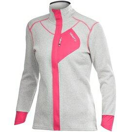 [ Craft ] 1901671 2222 Performance Warm 米白/桃紅 女款 全開式長袖拉鍊中層衣 長袖中層保暖刷毛外套