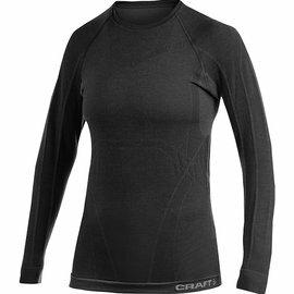 [ Craft ] 1902342-9999黑色KEEP WARM WOOL 女款 長袖圓領保暖羊毛衣/排汗衣