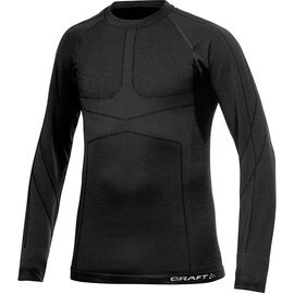 [ Craft ] 1901648-9980黑色 KEEP WARM WOOL 男款 長袖圓領保暖羊毛衣/排汗衣
