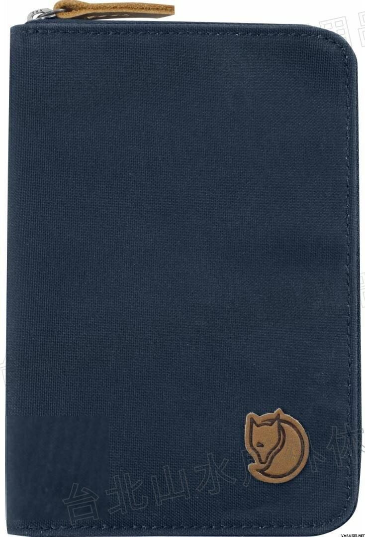 Fjallraven 瑞典北極狐 Passport Wallet 旅遊護照包/復古拉鍊皮夾/錢包 24220 560 海軍藍