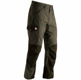 Fjallraven瑞典北極狐82831AbiskoTrousers男款G-1000合身版型多功能彈性長褲休閒工作褲登山褲246暗棕綠