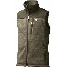 Fjallraven 瑞典北極狐 81727 Buck Fleece Vest 復古針織耐磨刷毛保暖背心 633 深橄欖