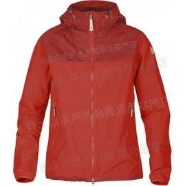 Fjallraven 瑞典北極狐 登山薄軟殼/軍裝夾克/獵裝風衣 夏季透氣款 Abisko Hybrid 女款 89128A 320 紅