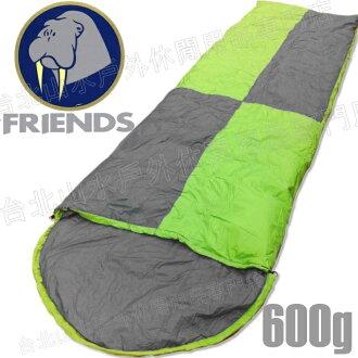 [ Friends ] 羽絨睡袋/露營睡袋 台灣製 600g信封型 SD-406 綠