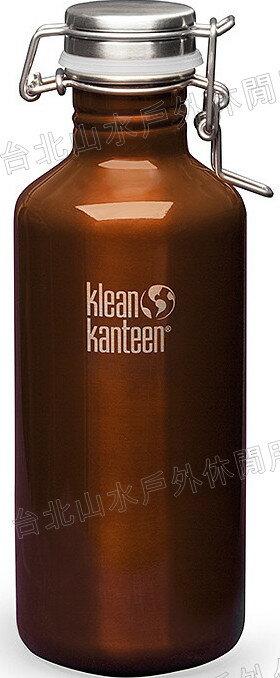 [ Klean Kanteen ] 快扣鋼瓶/密封瓶/不鏽鋼水壺/可樂罐/酒壺 Growler 1182ml 黑麥棕