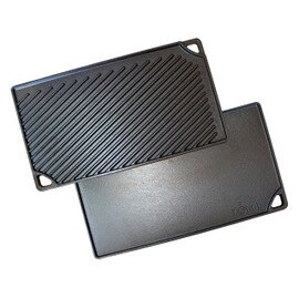 [ Lodge ] 雙面長型平底煎盤 LDP3 Logic Cast Grid/Iron Griddle