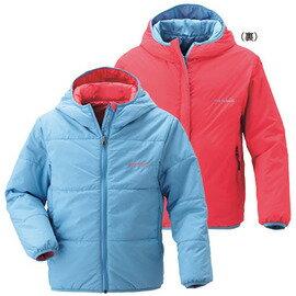 零碼特價 [ Mont-Bell ] Exceloft 雙面穿化纖連帽保暖外套 童款 1101152 PS/CA 粉藍紅雙色 montbell