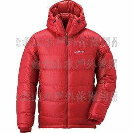 [ Mont-Bell ] 頂級鵝絨800FP BOX 立體隔間 連帽羽絨衣 羽毛衣 雪衣 男款 1101407 SRD 艷日紅 montbell