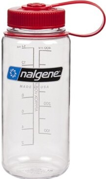 Nalgene 寬嘴水壺 Tritan 500cc 美國製 682009-0572 透明紅