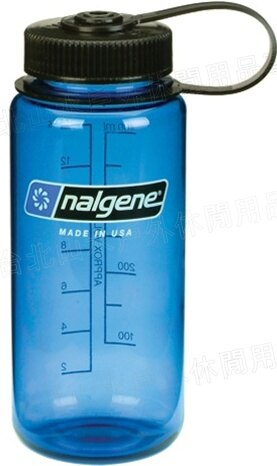 Nalgene 寬嘴水壺 Tritan 500cc 美國製 2178-1116 灰藍色