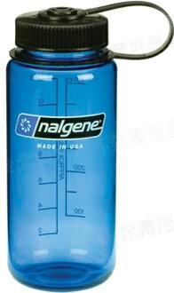 [ Nalgene ] 寬嘴水壺 Tritan 500cc 美國製 1116 灰藍色