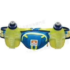 [ NATHAN ] Trail Mix 雙水壺腰包/水壺腰帶/馬拉松慢跑腰包 單車/馬拉松/三鐵/路跑/健身 NA4625NU 藍綠配色