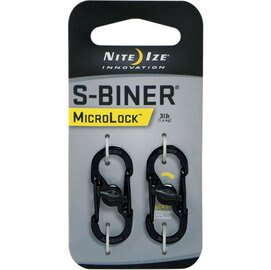 NITEIZELSBM-01-2R3(黑色)S-Biner迷你帶鎖S型雙面金屬扣環二入組