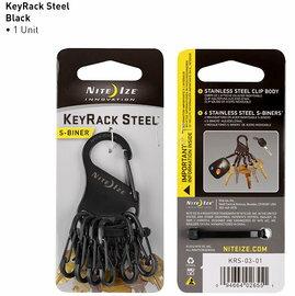 [NITEIZE]KRS-03-01KeyRackSteel凱樂鑰匙扣鑰匙圈黑色