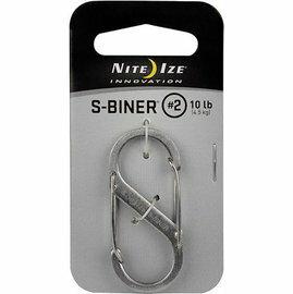 [ NITE IZE ] SB2-03-11 銀色 S-Biner S型不鏽鋼雙面扣環/8字扣 2號
