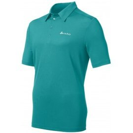 零碼M [ ODLO ] 200832 男款 銀離子抗UV短袖排汗POLO衫 湖綠色