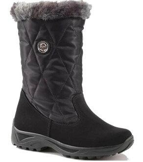 Olang 皮面防水雪鞋/保暖雪靴 MIRANDA OLANTEX 女款 OL-1502W 歐洲製造 黑