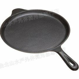 Old Mountain 鑄鐵扁煎盤/平底鍋/披薩盤/鐵板燒/鑄鐵鍋 10.5吋 10147