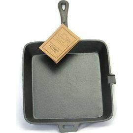 Old Mountain 鑄鐵平底鍋/煎盤/鐵板燒/鑄鐵長柄平底煎鍋/Lodge可參考 方型10.5吋 10107