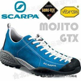 [ Scarpa ] Mojito Gore-tex 山系休閒鞋/防水越野鞋 yama風穿搭/麂皮 女款 32605-200 寶藍