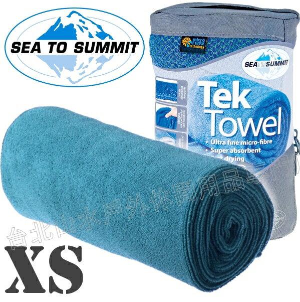 Sea to Summit Tek Towel XS 舒適快乾毛巾 ATTTEKXSPB 水藍