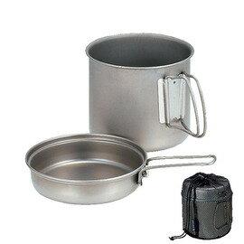[ Snow Peak ] 鈦鍋/鈦合金鍋組 900ml 單鍋單蓋兩件組 SCS-008T