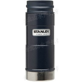 Stanley One Hand Vacuum Mug 咖啡保溫杯/經典單手杯/美式復古軍用不鏽鋼保溫水壺 0.35L 錘紋藍 01569/台北山水