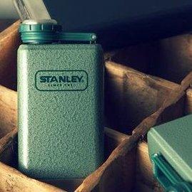 Stanley SS Flask 經典酒壺/美式復古軍用不鏽鋼水壺10-01564 8oz/236ml 錘紋綠/台北山水