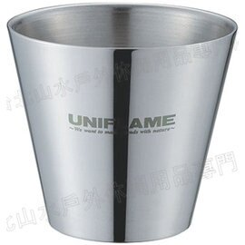[ UNIFLAME ] 不鏽鋼雙層斷熱杯SUS400/露營保溫杯/雙層鋼杯 18-8食品級不鏽鋼 U666289 日本製 燕三條