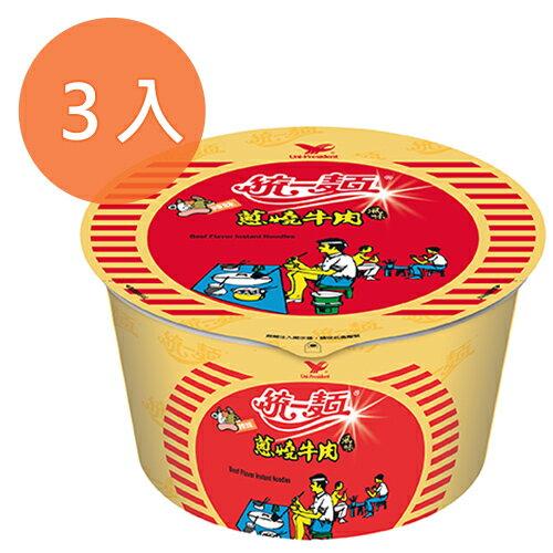 統一麵 蔥燒牛肉風味 90g (3碗入)/組