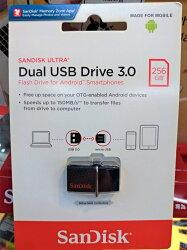 免運 Sandisk 256GB ULTRA SDDD2 USB3.0 256G 雙用隨身碟 Android 安卓專用 OTG 備份 手機儲存碟 公司貨