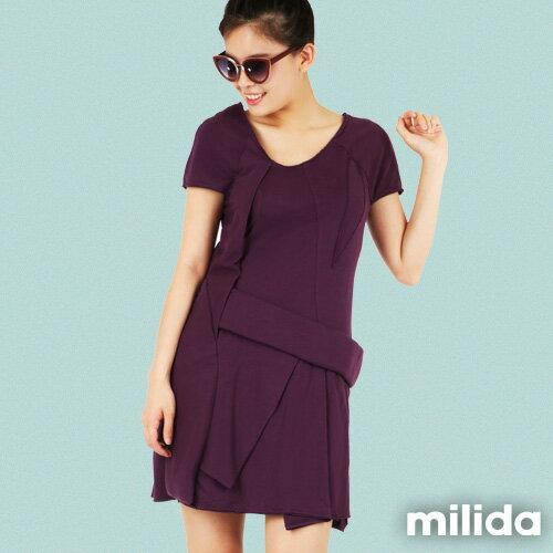 【Milida,全店七折免運】-夏季尾聲-素色款-厚棉立體造型設計 4