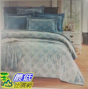 [COSCO代購 如果沒搶到鄭重道歉] Caliphil 雙人加大色織緹花床包被套四件組 W114122-B