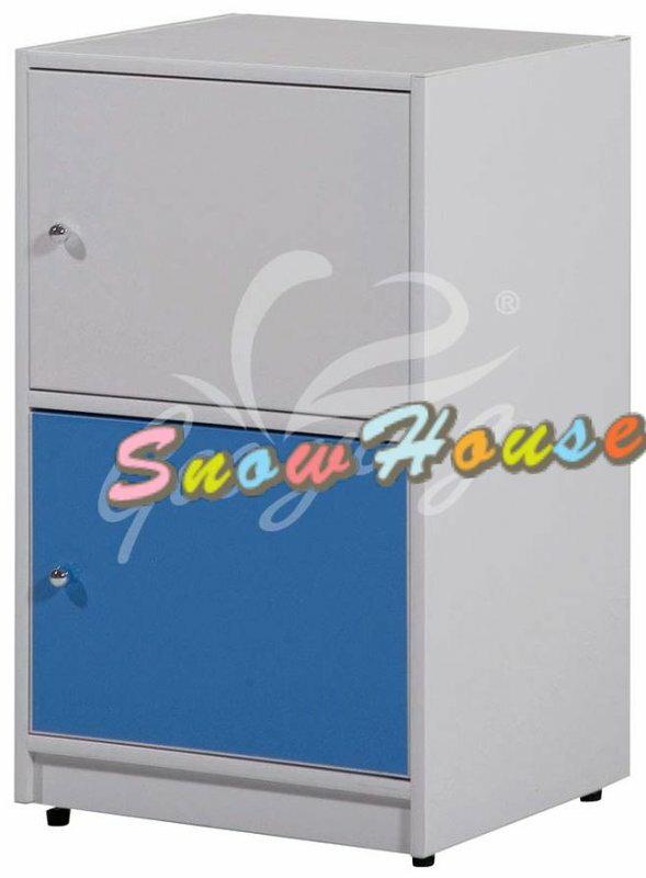 ╭☆雪之屋居家生活館☆╯AA543-01 PW-002塑鋼二層櫃(有門)書櫃/書架/置物櫃/雜物櫃