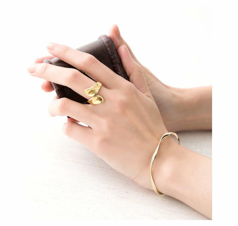 日本CREAM DOT  /  リング 指輪 ステンレス製 低アレルギー レディース 大きいサイズ 9号 12号 15号 17号 ラップリング ファッションリング 大人カジュアル シンプル ゴールド シルバー ピンクゴールド  /  a03642  /  日本必買 日本樂天直送(1990) 4