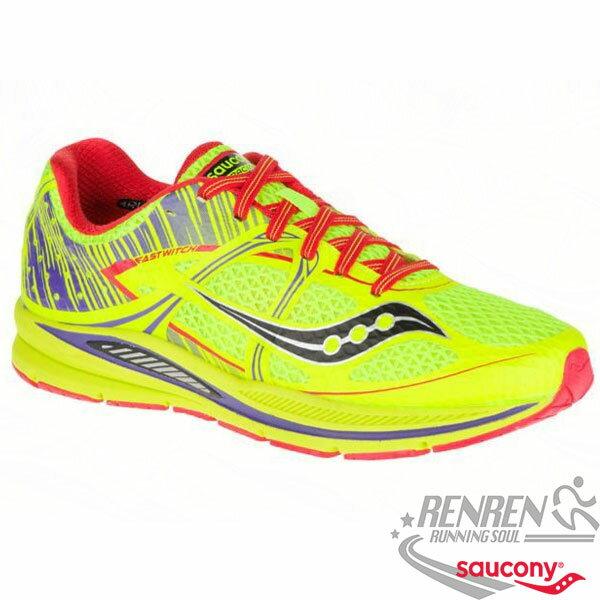 SAUCONY FASTWITCH 女慢跑鞋  螢光黃~橘  輕量