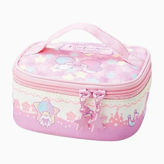 【真愛日本】17061300020 手提收納箱包-TS星星粉紫+AAS 三麗鷗家族 Kikilala 雙子星 化妝 收納包