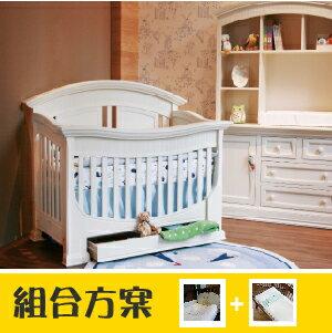 LEVANA【四合一系列】亨利王子 嬰兒床 -象牙白 (組合特惠:床+5件組+雙面床墊)