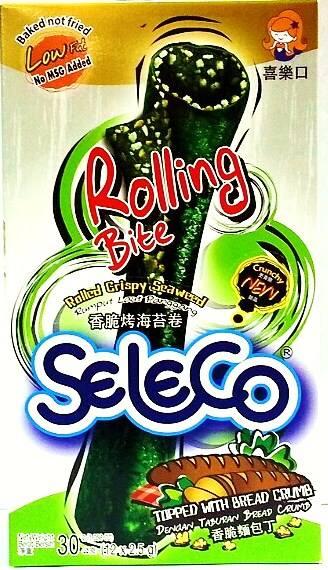(泰國) Seleco 喜樂口 香脆烤海苔捲(香脆麵包丁)(海苔卷/喜樂口海苔捲/烤海苔捲)~1盒~試吃價88元~
