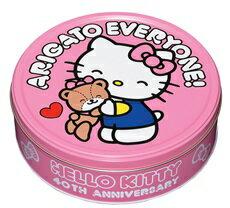 (日本) BOURBON 北日本40週年 Hello kitty 造型奶油紀念餅乾禮盒(粉紅) ~1盒345g 裡面有54枚入~試吃價280元~kitty禮盒