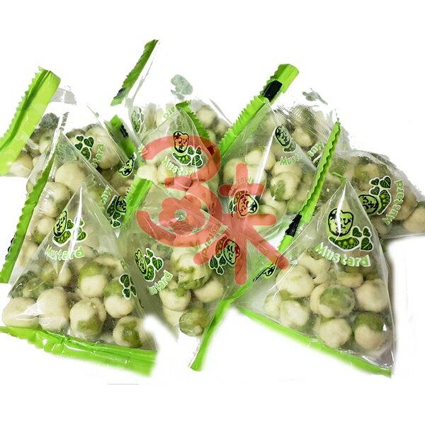 (台灣) 零食物語 翠果子-芥末味 600公克(1斤) 120元 (粽型包裝)
