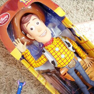 PGS7 日本迪士尼系列商品 - 迪士尼 胡迪 Woody 警長 說話 玩偶 (英文版) 玩具總動員 公仔【SJD7295】