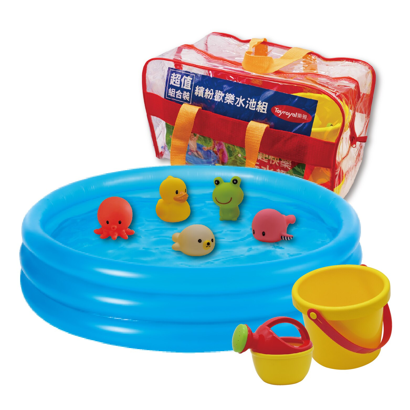 Toyroyal樂雅│歡樂戲水泳池組  夏日兒童露營玩具(3歲以上)