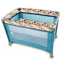 【淘氣寶寶】evenflo 雙層遊戲床 H942T1-W3NL-藍/粉~附蚊帳(上層是拉鍊固定)