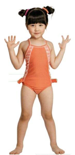 [陽光樂活] Let's jet 雷氏吉兒 女童連身式泳衣 附泳帽 A2230-07(特價出清)